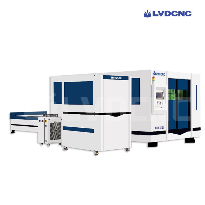 Closed exchange table laser cutting machine